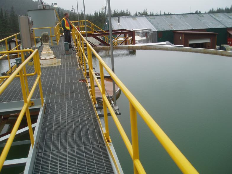 Clarifier operation optimized by Apex Engineering for metals removal