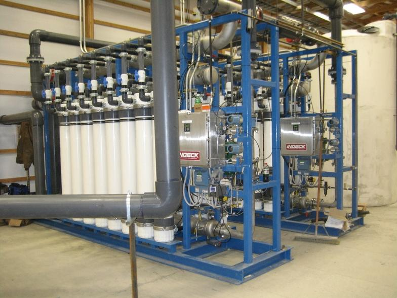 Ultrafiltration plant for metals removal